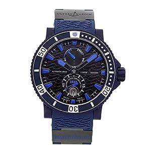 Ulysse Nardin Marine Chronometer Black Dial Blue Automatic Mens Watch 263-97LE-3C image