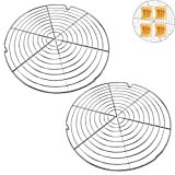 HUYIWEI Kuchenauskühler, 2 Stück rundes Kuchengitter,Kuchengitter für...