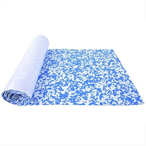 LFHH Camouflage EVA Teak Decking Sheet Surfboard Boat Yacht Flooring Mat Carpet Pad Decking Sheet For Boat Yacht Marine Flooring Mat Non-Slip Mat Self-Adhesive Carpet (Blue White)