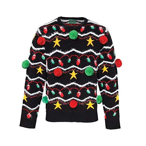 ASVP SHOP Maglione natalizio 3D Xmas Funny - unisex per adulti