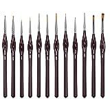 WLOT Pinselset Malen - Set 12 Premium Malpinsel - Ideal für Öl, Acryl, Aquarell, Modellbau,...