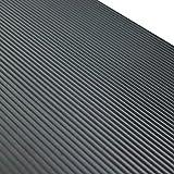 Feinriefenmatte | 1m² 1,2 x 0,83m [Größe + Farbe wählbar] Stärke: 3mm | Farbe: Dunkelgrau