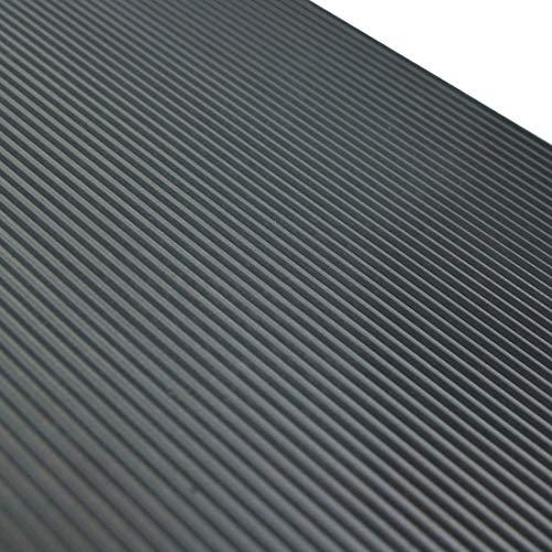 Feinriefenmatte | 3m² 1,0 x 3,0m [Größe + Farbe wählbar] Stärke: 3mm | Farbe: Dunkelgrau