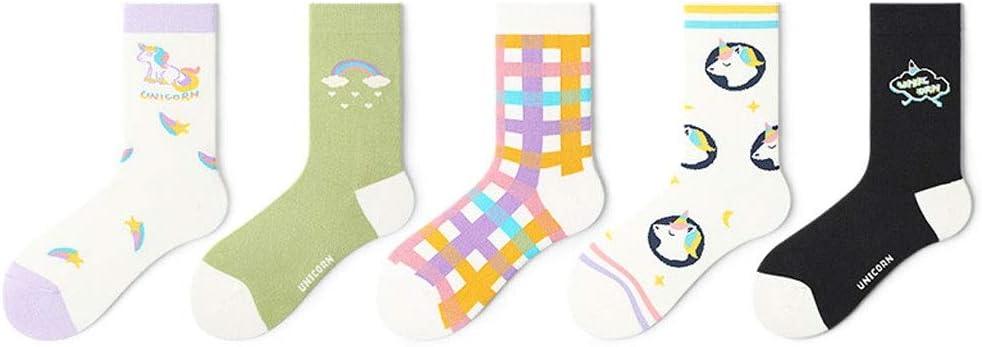 XIAOLI Limited time sale Warm Socks mart Colorful Crew 5 Soft Pairsï¼ Cozy