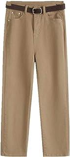 N\P Pequeño tubo recto jeans mujer slim cintura alta y delgado otoño negro pequeña pierna capris