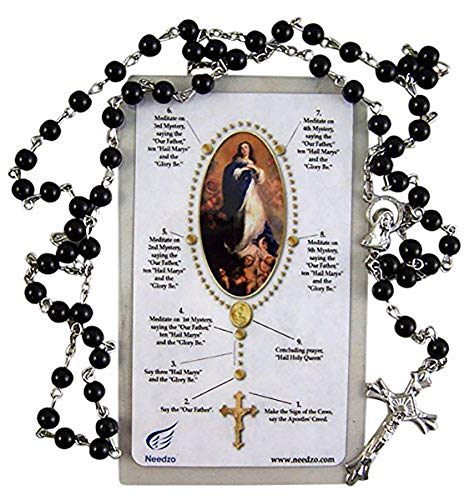 Boys First Communion Gift Holy Card and Rosary by Needzo Inc, 18 Inch