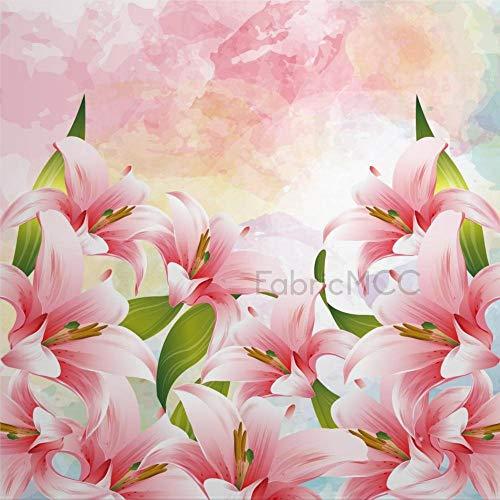 daoyiqi Juego de adhesivos decorativos para azulejos, diseño de flores silvestres, 30,5 x 30,5 cm, vinilo impermeable para decoración de la cocina, el hogar