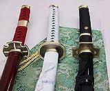 S2733 Japanese Anime ONE Piece Roronoa Zoro Sword Shiny HAMON Blades 41.1' LOT 3