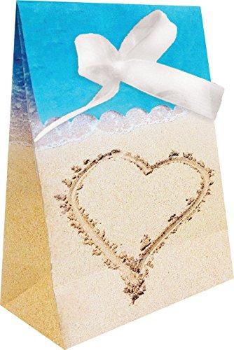 Creative Converting Favor Bags, One size, Beach Love