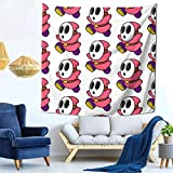 Pink Shyguy Mask Tapestry Wall Hanging Tapestries Wall Blanket Wall Art for Living Room Bedroom Home Decor 59x59 inch