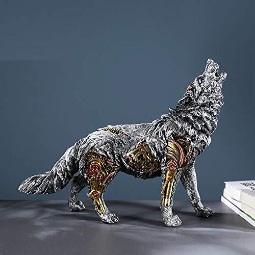 ZAQWSXCDE Skulptur Figur Tier Skulptur Dekofigur Wolf Horse Sculpture Home Decoration Möbel Kreative Büro Display Arbeitszimmer Dekoration Ornamente Geburtstagsgeschenke