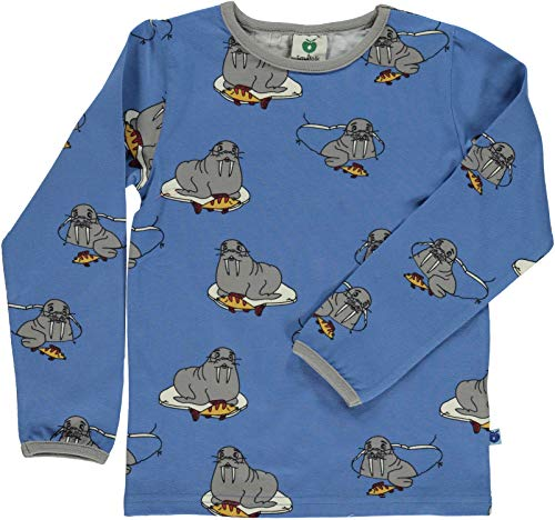 Smafolk T-Shirt mit Allover Print Motiv: Walross - blau Groesse 5-6 Jahre