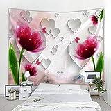 ZKAMANG Tapicería De Flores Hermosas Impresas En 3D, Tela De Fondo En Vivo por Internet 200X150Cm (80X60) D