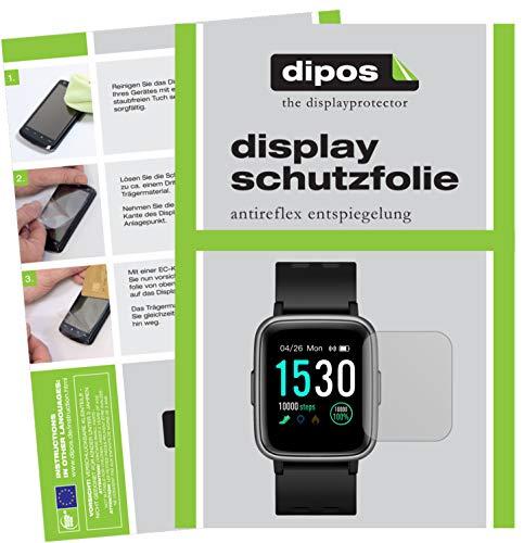 dipos I Schutzfolie matt kompatibel mit Pearl Newgen medicals SW-260.hr Bildschirmschutz-Folie (Kleiner als das Glas, da Dieses gewölbt ist)