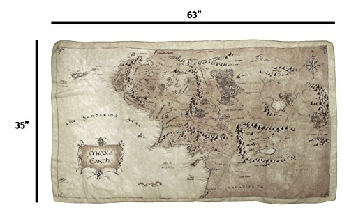 elope Lord of The Rings Middle Earth Map Lightweight Scarf
