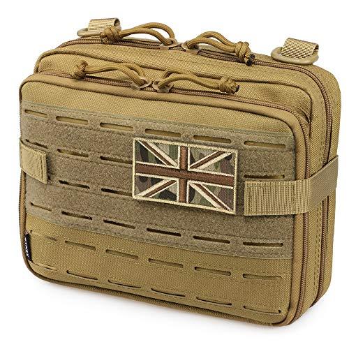WYNEX Tactical Molle Admin-Tasche im lasergeschnittenen Design, Utility-Taschen Molle Attachment Military Medical EMT Organizer