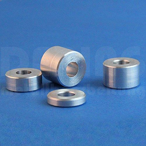 Distanzhülsen M12 aus Aluminium, D: 24mm, L: 10mm (VPE = 5 Stück) | Abstandhalter | Abstandshülse | Distanzbuchse | Distanzring | Distanzstück | Buchse | Rohling | Rohrbuchse | Verstärkungshülse