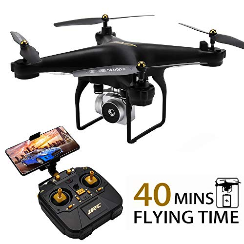 JJRC H68 RC Drone 40MINS Longer Flight Time Quadcopter with 720P Camera FPV Wifi Helicopter with 2 Batteries(20mins + 20mins), Altitude Hold, Headless Mode Remote Control Best Drone (Black)