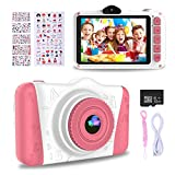 WOWGO Kids Digital Camera - 12MP Children's Selfie Camera with 3.5 Inches Large Screen for Boys and Girls,1080P Rechargeable Electronic Camera with 32GB TF Card