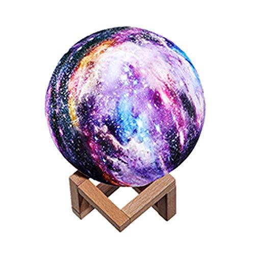 Table lamp 3D gedruckt Mondlicht, ins Sternlicht Geschenk Geschenk Mond Planetenlicht gemalt Stern Mondlicht, dimmbare Fernbedienung wiederaufladbar, mit 16 Farben Mondlicht Nachtlicht