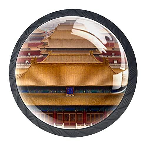 Forbidden City Beijing, 4 unidades de pomos de ABS para aparador, cajones de cocina