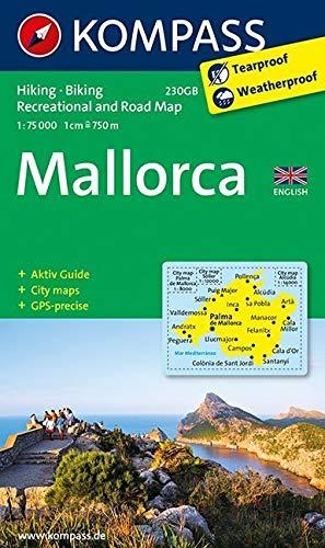 Kompass WK230GB Mallorca: Wandelkaart 1:75 000