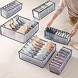 Faffooz 6 Pcs Organizador Ropa Interior Caja De Almacenamiento De Ropa Interior Plegable Con Compartimento Se Utiliza para Guardar Ropa Interior, Calcetines, Sujetadores, Corbatas