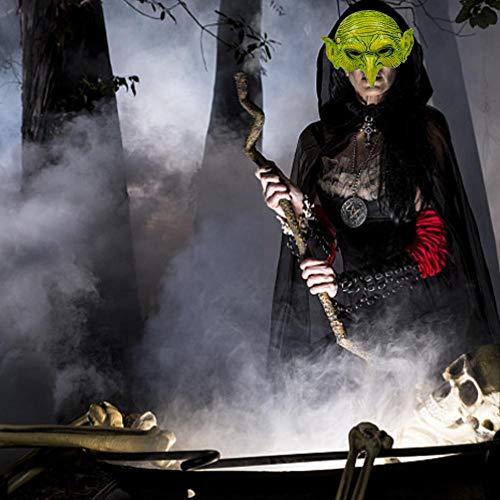 Diseño De Bruja Verde 3D Efecto Cara Piel Lycra Face Mask Halloween L/&s Estampados