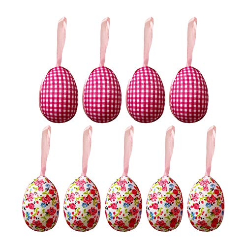 Janly Clearance Sale 9PC Happy Easter Colorful Easter Bunny Hanging Crafts Home Decor Casual Style , Decoration & Hangs forHome & Garden , Easter St Patrick's Day Deal (A)