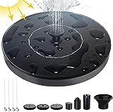 Solar Springbrunnen, 1,4 W Solar Teichpumpe mit 6 Effekte Solar Wasserpumpe Solar schwimmender Fontäne Pumpe für Gartenteich Oder Springbrunnen Vogel-Bad Fisch-Behälter