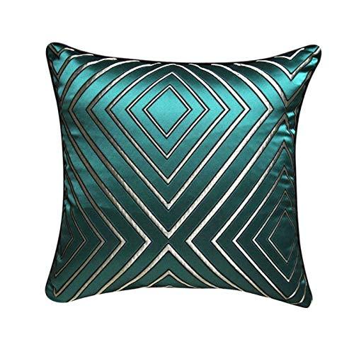 Yuansr Almohada de Estilo Europeo, Estilo Sala de Estar sofá Almohada con Cremallera, diseño geométrico único Almohadas Decorativas para sofá Cama decoración (Color : A)