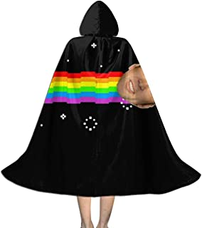 Nicolas Cage Nyan Cat Meme Unisex Kids Hooded Cloak Cape Halloween Xmas Party Decoration Role Cosplay Costumes Black