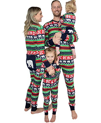 Lazy One Flapjacks, Matching Pajamas for The Dog, Baby & Kids, Teens, and Adults (Sweater Bear, Large)