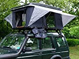 Prime Tech Hartschalen-Autodachzelt Nevada 140cm ABS schwarz/grau automatik