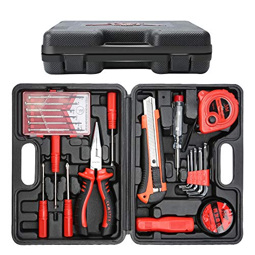 E·Durable 21pcs Maletín de Herramientas Kit de herramienta de reparación del hogar con...