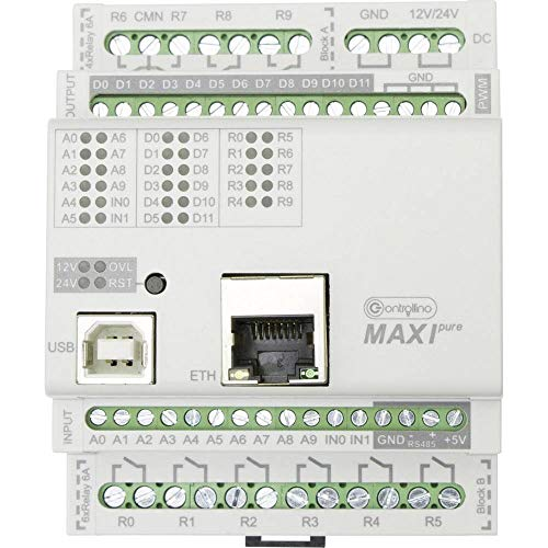 Controllino Maxi Pure 100-100-10 SPS-Steuerungsmodul 12 V/DC, 24 V/DC