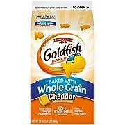 Pepperidge Farm Goldfish Baked with Whole Grain Cheddar Crackers, 30 oz. Carton