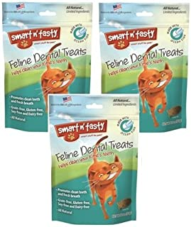 (3 Pack) Smart n' Tasty Cat Ocean Fish Dental Grain-Free Treats, 3-Ounce each