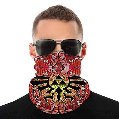 Lawenp Red Geometry Unisex Reutilizable Ajustable Sombreros al aire libre para hombres Mujeres Pañuelo facial Pañuelo Polvo multifuncional Casual 3d Impreso Cuello Gaiter Calentador Bandanas Balaclava