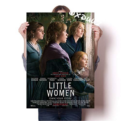 xmydeshoop American Love Movie Little Women Photo Propaganda Poster Family Wall Art Deco Painting Poster Protagonistas Silsa Ronan 50X70Cm (Xmy-1572)