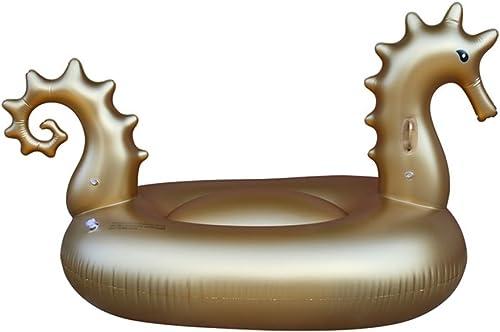 Aufblasbare H ematte Portable Pool Float Goldenes Seahorse aufblasbares PVC-Pool schwimmt Sitz für Erwachsene Kinderkindermädchen-Jungen-Floss-Spielzeug Gemüse Lila Sommer Party Urlaub Kinder