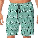 Resumen Boomerang Cats V2_1725 Hombres 3D Impresos Swim Trunks Quick Dry Summer Beach Sports Running...