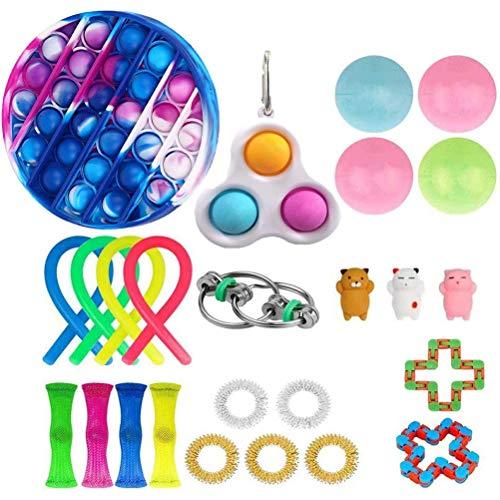 Gazaar Sensory Fidget Toys Set de 25 juguetes sensoriales para autismo alivio del estrés juguetes para niños y para TDAH, autismo y ansiedad, juguetes especiales para recuerdos de fiesta de cumpleaños