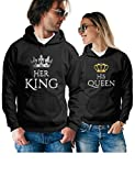 Her King His Queen Matching Couple Hoodies - Pullover Sweatshirts - His and Hers Outfits