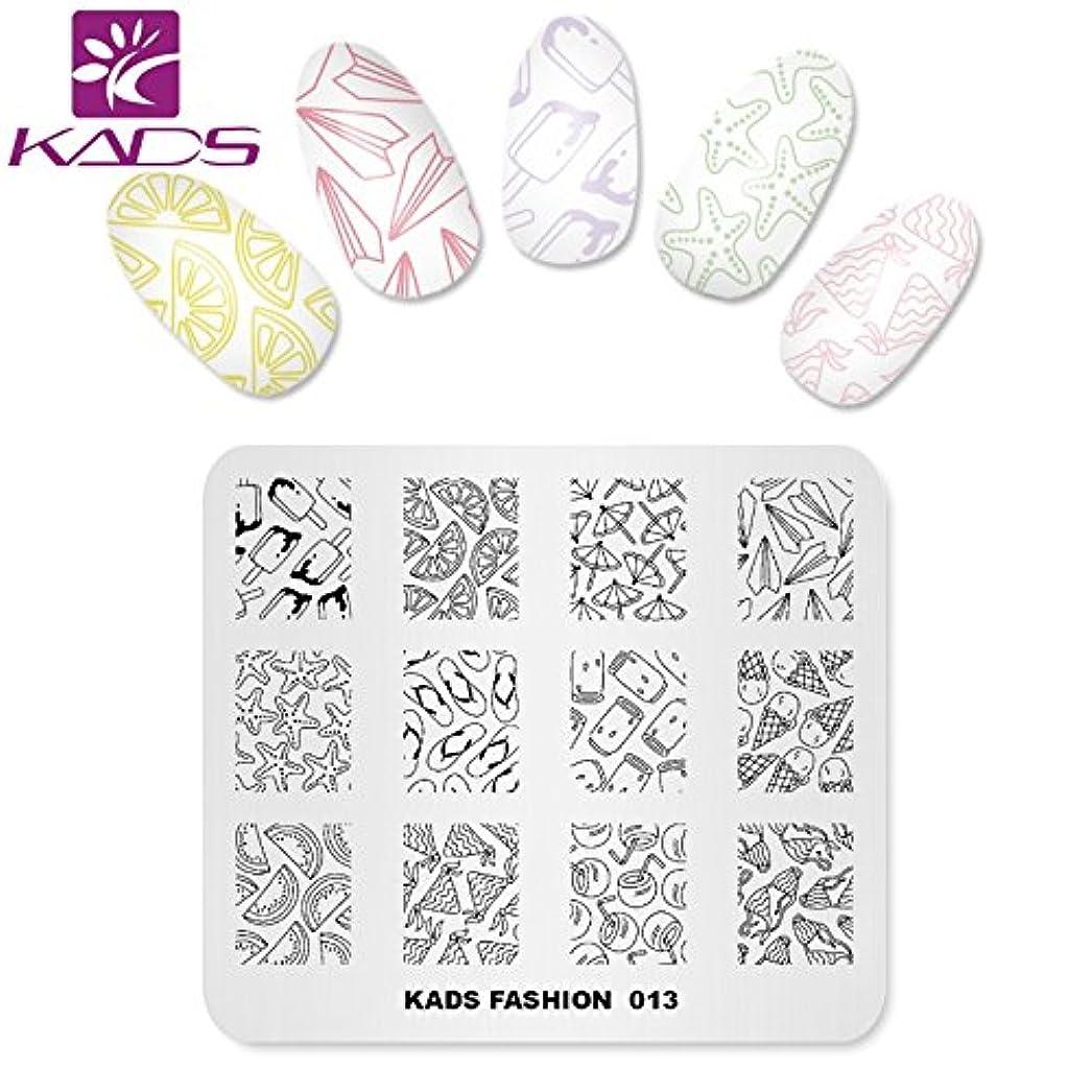 バルセロナ侵入する翻訳するKADS ネイルスタンププレート ネイルステンシル ネイルイメージプレート ファッションスタイル … (FA013)