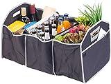 Lescars Kofferraumtasche: 2in1-Kofferraum-Organizer mit 3 Fächern und Kühltasche