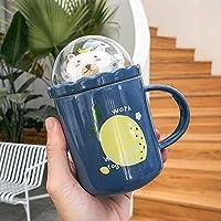 セラミックコーヒーカップ朝食ミルクオートミールマグかわいい漫画マグ400MLクマ