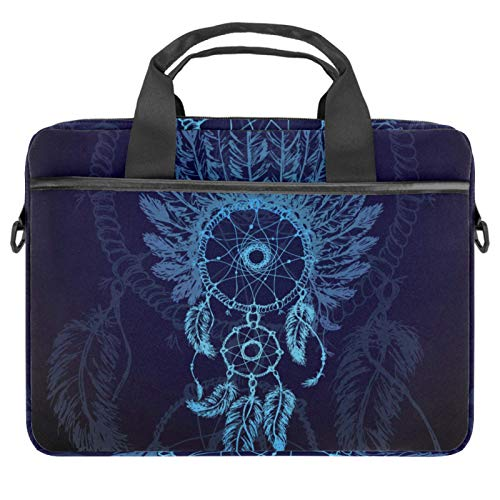 13-14.5 Inch Laptop Sleeve Case Blue Dream Catchers Protective Cover Bag Portable Computer Notebook Carrying Case Briefcase Message Bag