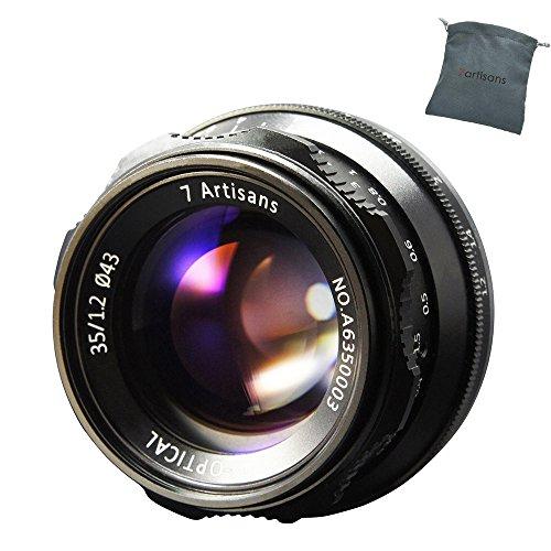 7artisans 35mm F1.2 Lente Manual Enfoque Objetivos Gran Apertura APS-C Fija para cámaras Fuji X-A1 X-A10 X-A2 X-A3 A-AT X-M1 XM2 X-T1 X-T10 X-T2 X-T20 X-Pro1 X-Pro2 X-E1 X-E2 E-E2s X-E3 X Mount