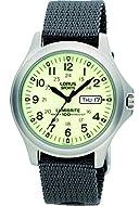 RJ655AX9 Lorus Gents Analogue Lumibrite Day-Date Grey Nylon Strap Watch
